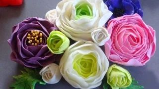 fleur de porcelaine atelier Céramuse - YouTube