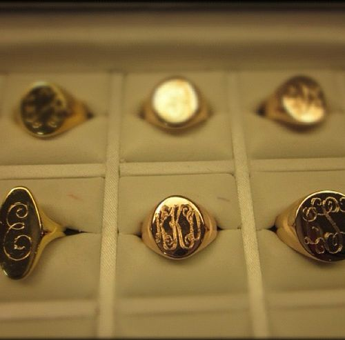 signet ring. Could get a Purdue P on one as a graduation ring. Much daintier options than the ones the university provides