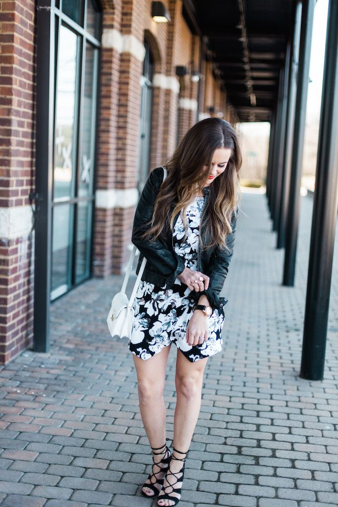 Floral Romper - The Pink Lily Boutique || KBStyled.com