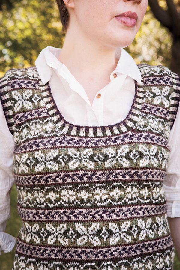 Spruce Grove Vest Pattern - Knitting Patterns and Crochet Patterns from KnitPicks.com by Glenna Harris