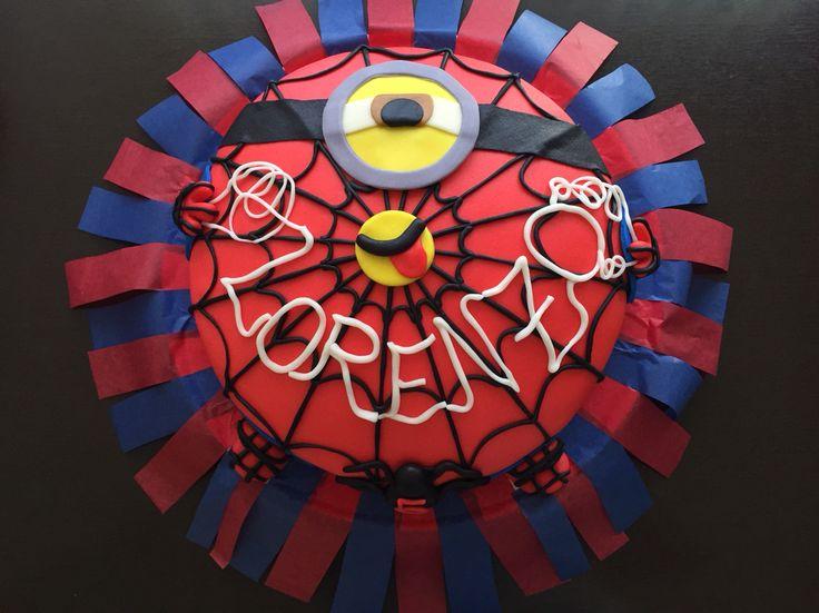 #Spider #minion #fondant #cake