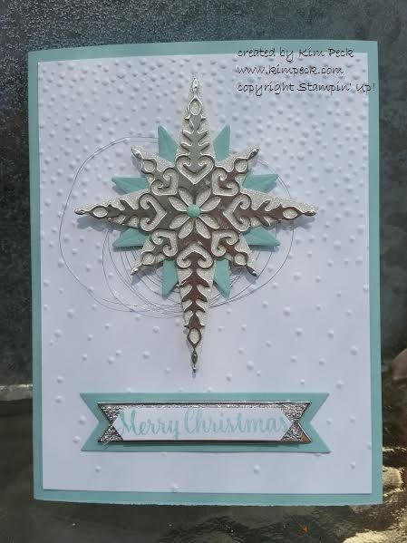 Stampin' Up! Star of light Card - Tutorial at www.kimpeck.com