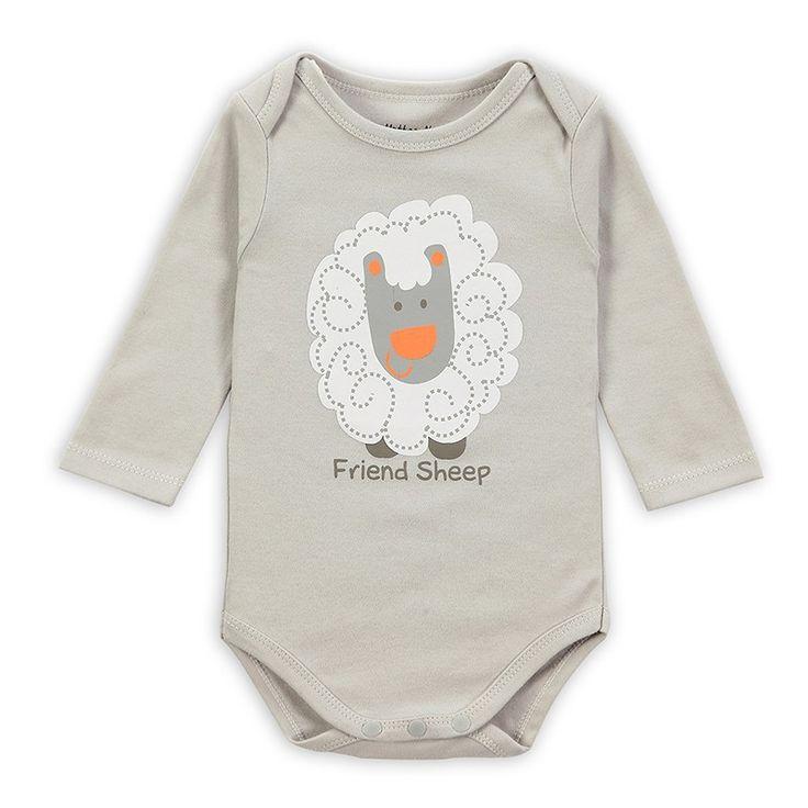 Розничная 3 шт./лот мультфильм стиль девочка мальчик зимняя одежда новорожденного боди для новорожденных Ropa…
