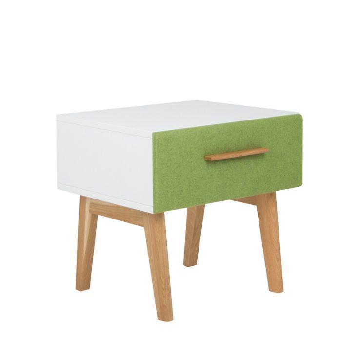 debe.deline Nachttisch mit Schublade von De Breuyn in Lindgrün