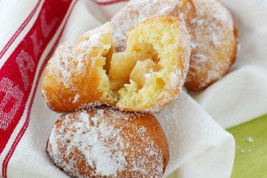 Apple brioche doughnuts