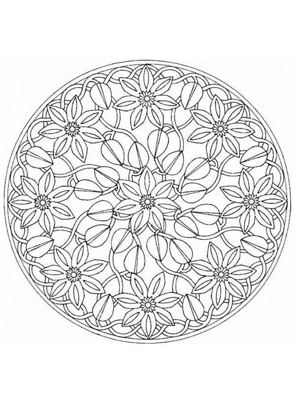 this expert mandala coloring sheet is a fun design and quite challenging to color mandala coloring page can be decorated online with the