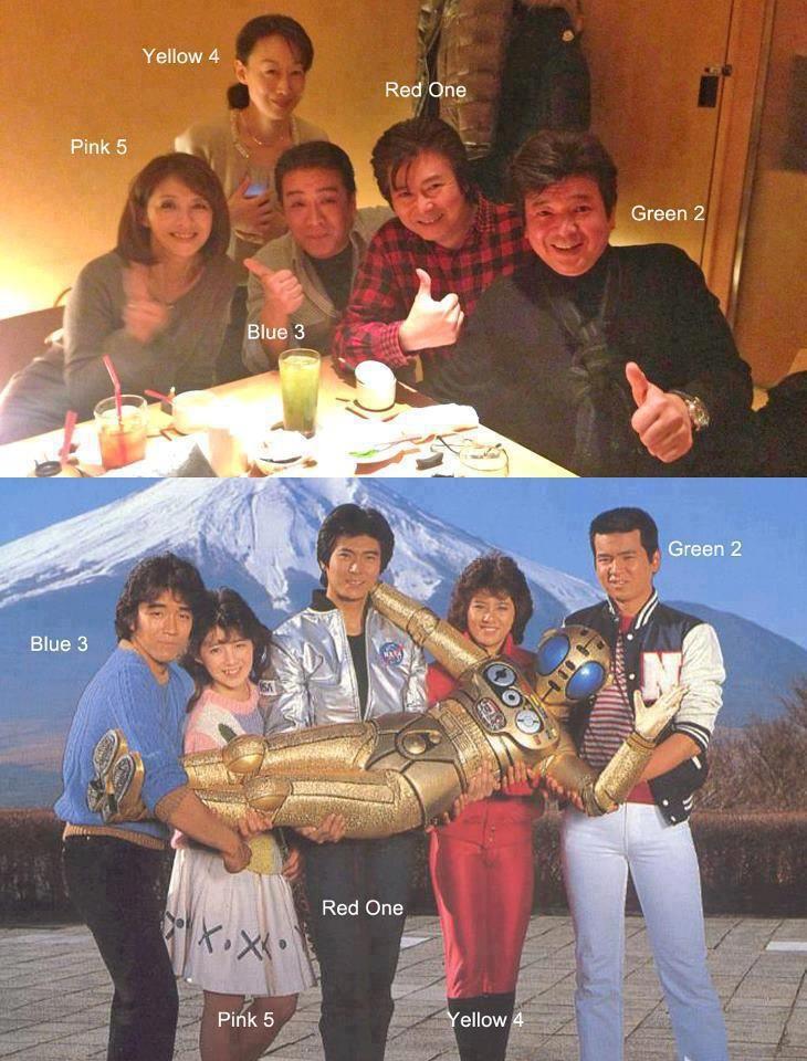 the cast of Bioman reunion