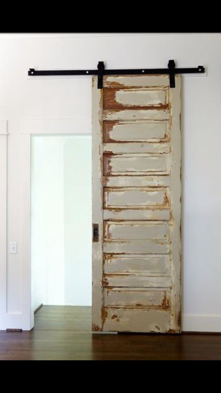 Possible small door for the master bathroom. But not with the beat up look.