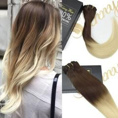 Ombre Clip in Remy Human Hair Extensions #T4/613