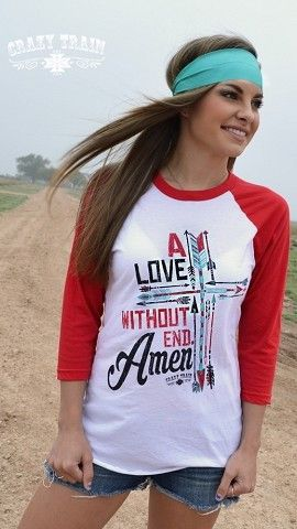Love Without End Amen Baseball Tee