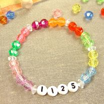 Girl Scout Law Colors Sparkle Troop ID Bracelet Kit Makes 6 Bracelets