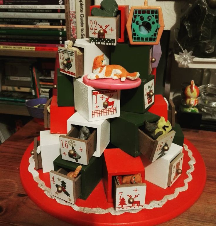 The not-so-secret #adventcalendar is out creating a lot of #temptation for our #twoyearold  The #toycats used to be mine 20 odd years ago dug out the loft they are a #greatalternative to #chocolate and #reuse of #toys that both #savesmoney and reduces consumption and demand for  #plastics (all-be-it on a small scale). (Last year we did #ponies and I have enough #dogs and #wildanimals for the next two years) Alternatively I shared a #reverseadvent calendar on our #positivecultivation fb page…