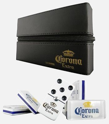Details about Corona Extra Cerveza Beer Domino Game Set Double 6 Dominoes Man Men Father Gift
