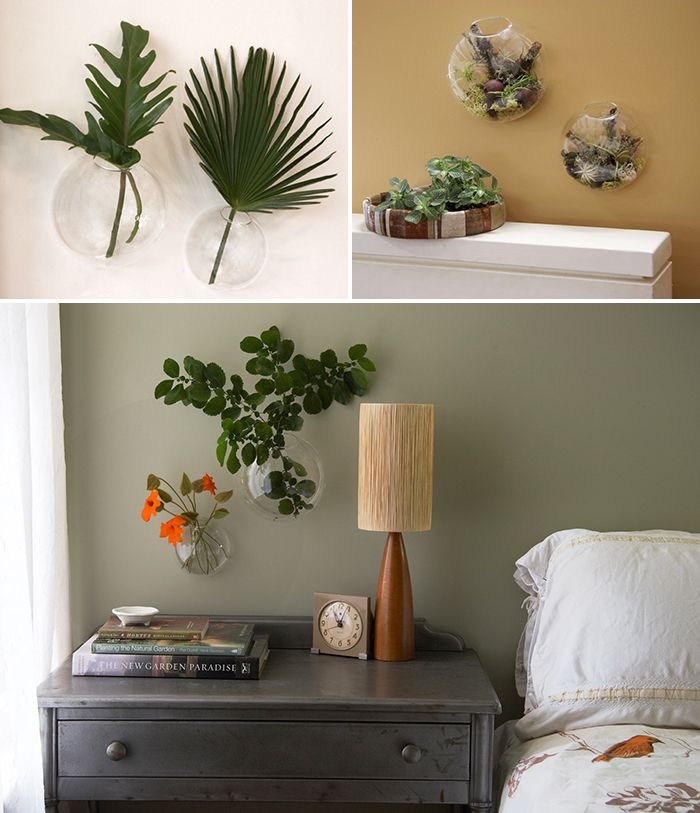 Wall Bubble vases from Flora Grubb--in living room or