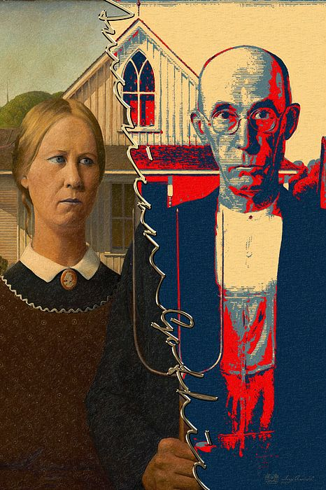 829 best images about art american gothic parodies for Gothic painting ideas