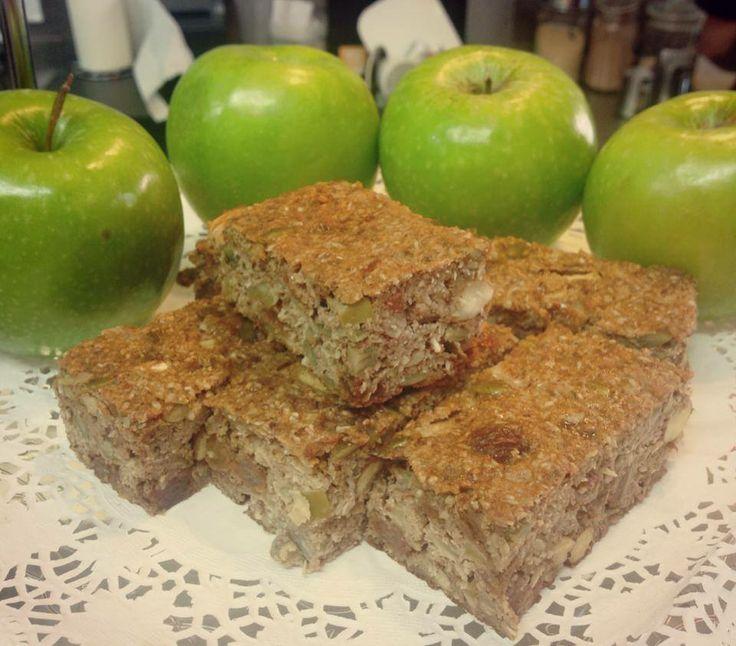 Apple & Cinnamon Brekkie Bars made with Protein Pancake Mix!