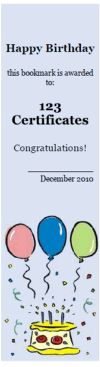 Free Printable bookmarks, bookmark templates, online bookmark maker, reading awards to print; 100% customizable