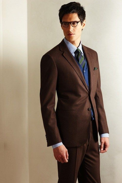 e0bd50a563a9 When it comes to suit color, mostly the decision falls down to black or  navy suit or blazer. Therefore, choose a dark brown suit or blazer.