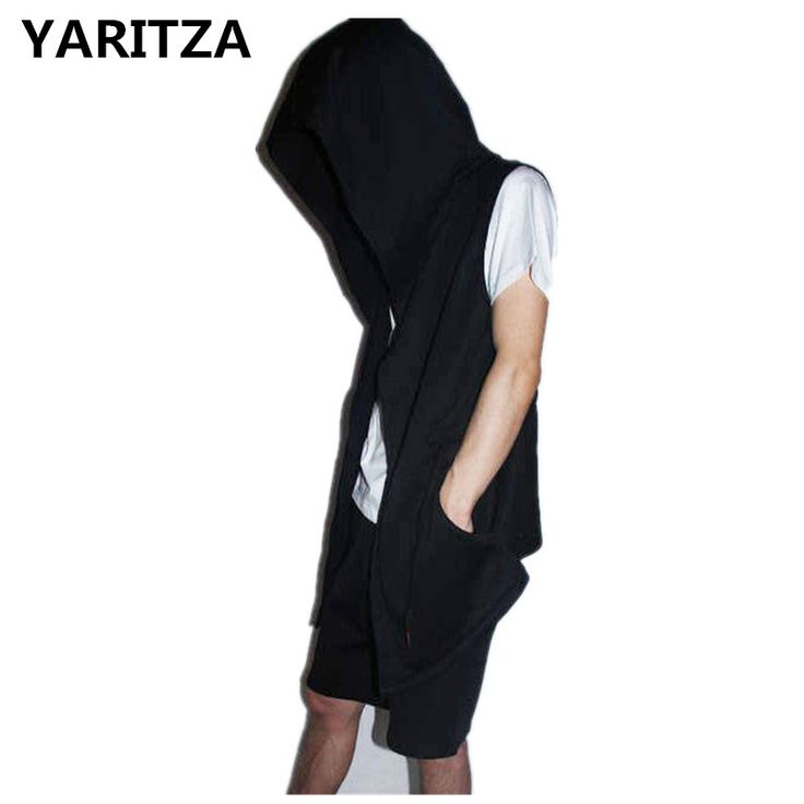 YARITZA Original Design Spring Autumn Brand Men's Sleeveless Hoodie Men Hood Cardigan Mantissas Black Cloak Outerwear Oversize-in Hoodies & Sweatshirts from Men's Clothing & Accessories on Aliexpress.com | Alibaba Group