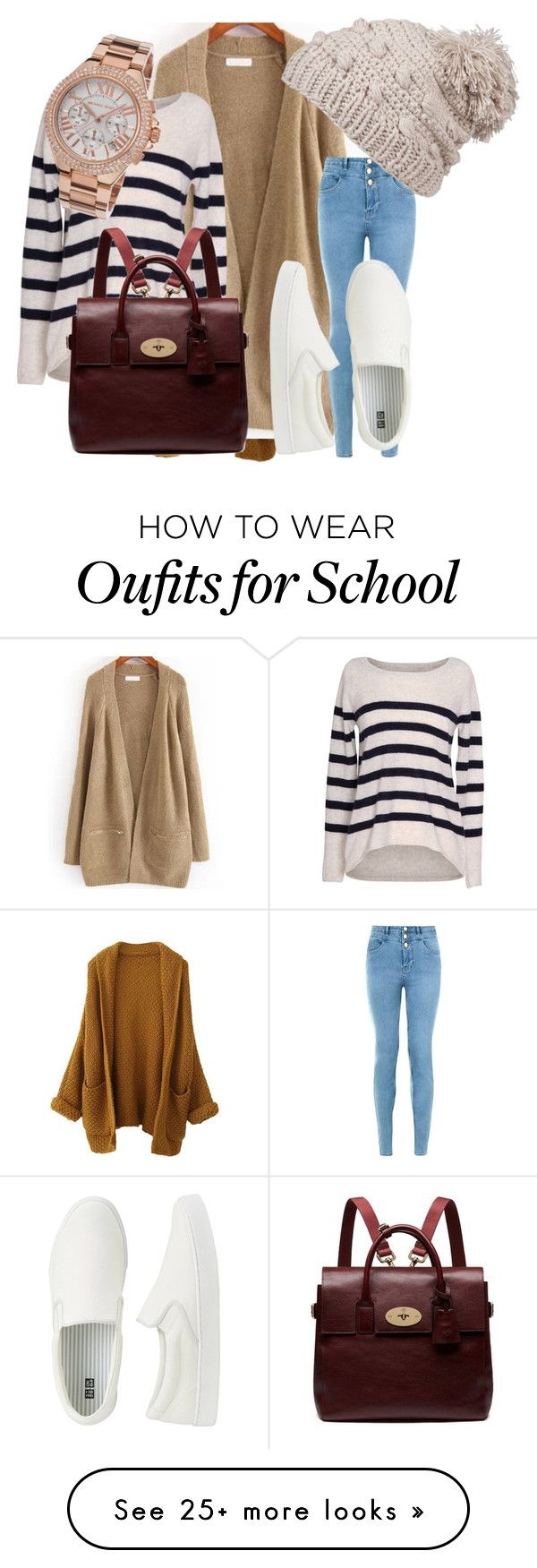 """after school"" by missedtea on Polyvore featuring Velvet by Graham & Spencer, prAna, Uniqlo, Mulberry, Michael Kors, women's clothing, women's fashion, women, female and woman"