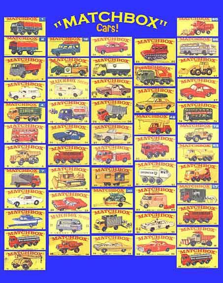 Matchbox Cars from the 1960's; these and Hot Wheels kept me busy when I could go outside!
