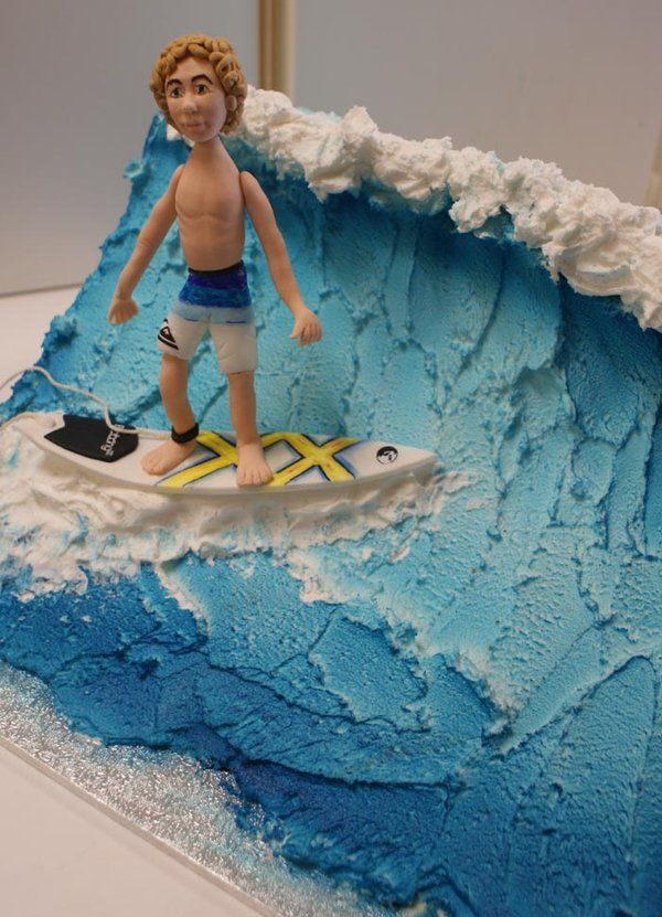 Surf cake by ~Verusca on deviantART