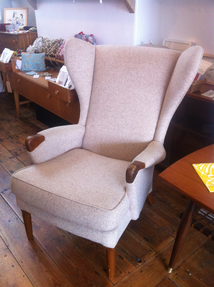 A Rare Wingback Armchair By Parker Knoll. This Is One Seriously Comfortable  Chair Which Has Been Recently Reupholstered In A Lovely Light Wool.