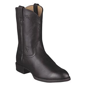 Ariat Heritage Roper 11'' Western Boots for Men - Black - Medium - 11.5