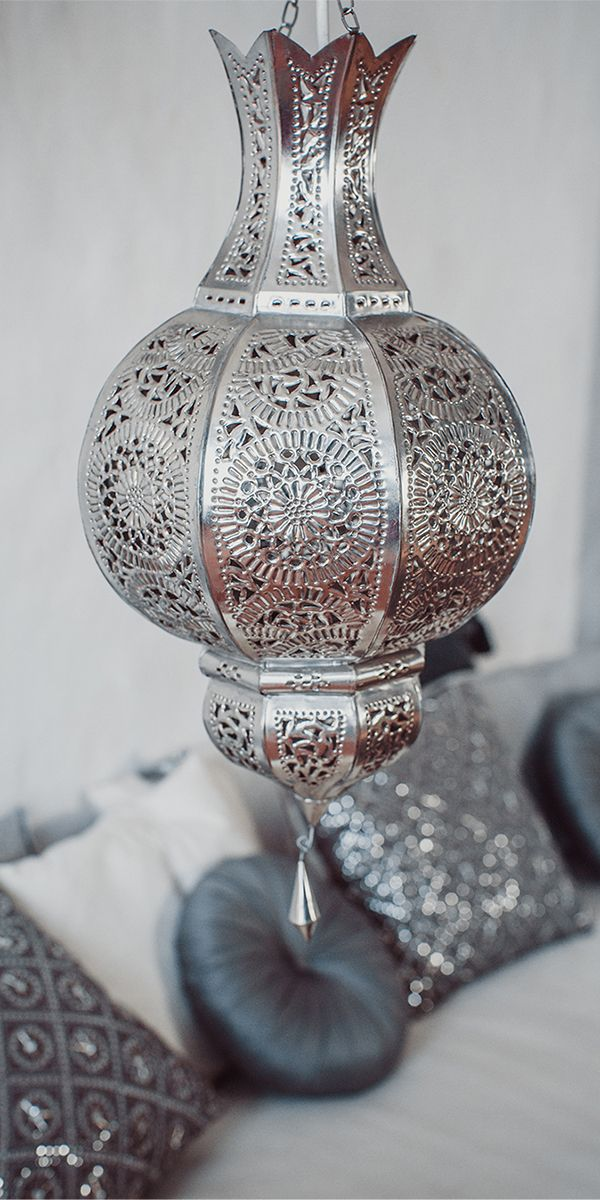Moroccan perforated chandeliers would be relatively easy to make out of metal sheets