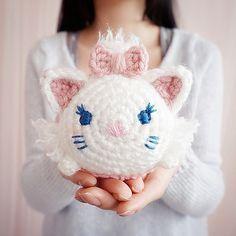 Marie from the Aristocats Tsum Tsum Amigurumi Crochet - http://TsumTsumPlush.com Place to Purchase Tsum Tsum Plush Toys