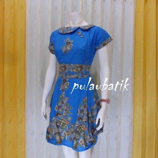 MODEL DRESS BATIK MODEREN. jual aneka model dress batik cantik dari bahan katun yang cocok buat anak muda