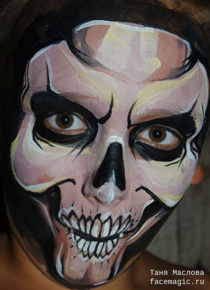 skull face paint by tanya maslova - Halloween Skull Face Paint Ideas
