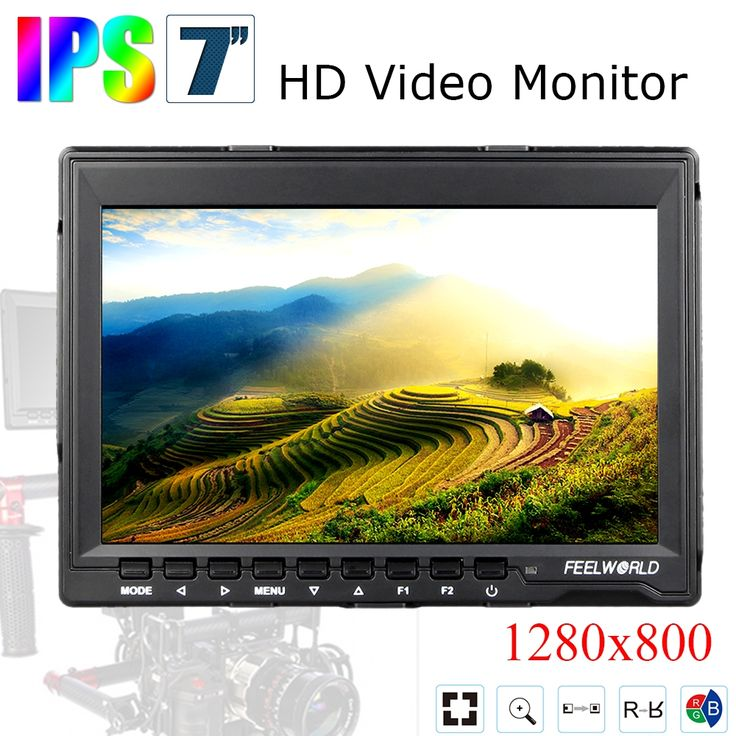131.28$  Buy now - http://alignr.worldwells.pw/go.php?t=32497497131 - Feelworld FW759 7' DSLR Monitor HD IPS 1280x800 Contrast 800:1 Field LCD Monitor HDMI Input with Sunshade for BMPCC BMCC 131.28$