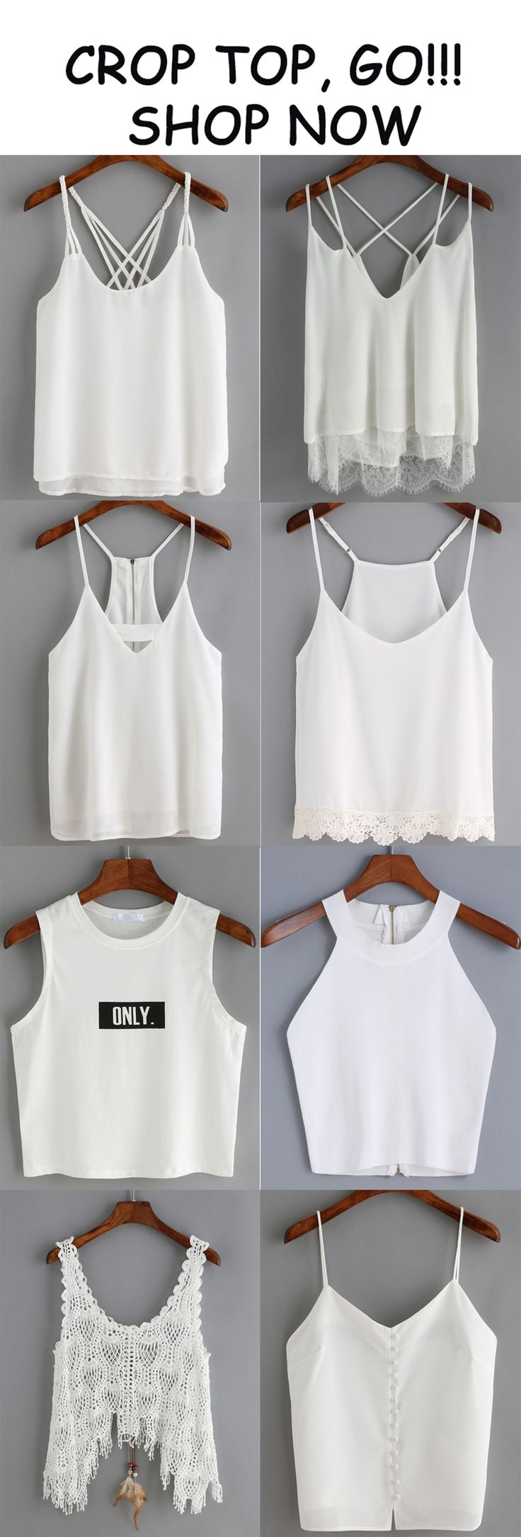 Summer is coming, and it's time to show your curve to the world. Wearing these white crop vests. Just enjoy your tour, bring the beach look to a new level!!!!