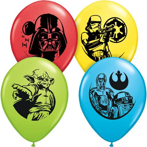"Star Wars Balloons 11"" Latex Red Green Yellow Blue Licensed Party C3PO Darth Vader Yoda RDD2 Party Birthday Storm Trooper starwars balloon by PartyHaus on Etsy https://www.etsy.com/listing/241488517/star-wars-balloons-11-latex-red-green"