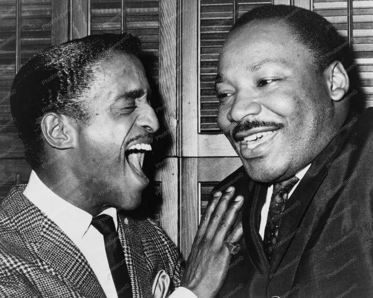 Dr Martin Luther King & Sammy Davis Jr 8x10 Reprint Of Old Photo