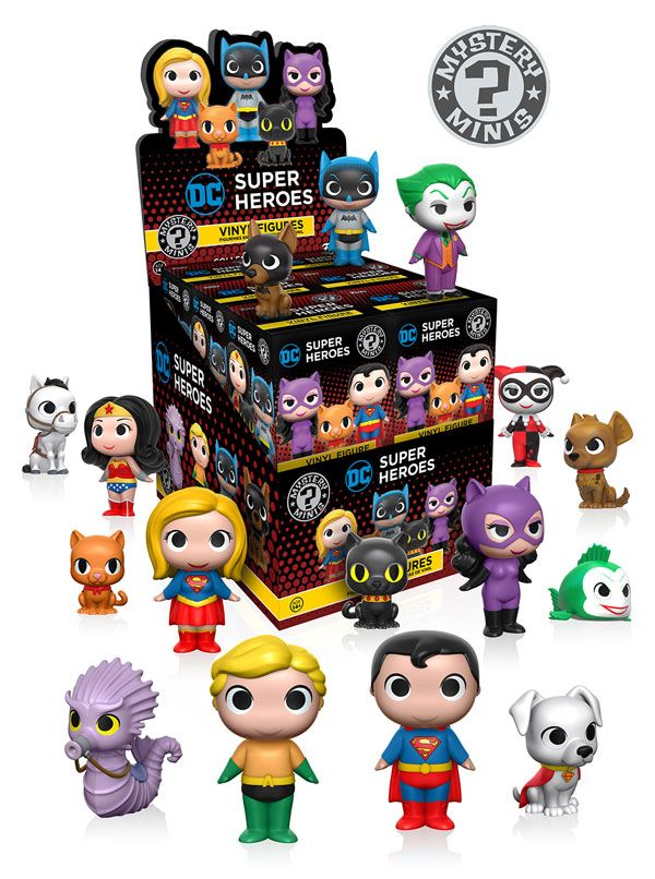 DC Superheroes & Pets Mystery Minis figures by Funko