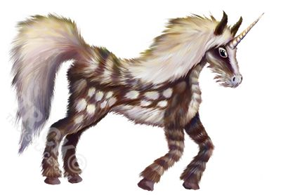 Spotted Unicorn - Artwork by 'Trick!  http://tricksplace.com/autumn-spotted-unicorn/