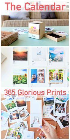 365 Day Instagram Desk Calendar. Beautiful tear away calendar with your own instagram photos printed!