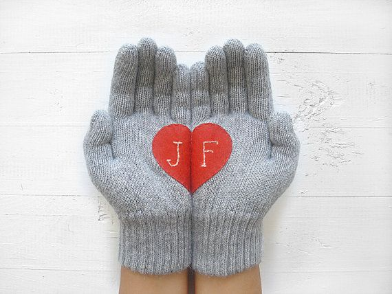 REGALO di NATALE, trasporto ESPRESSO, regali personalizzati, personalizzati, cuore guanti, guanti, idee regalo per Natale speciale regalo, regalo per lei, regali del monogramma