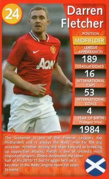 2012 Top Trumps Specials Manchester United #NNO Darren Fletcher Front