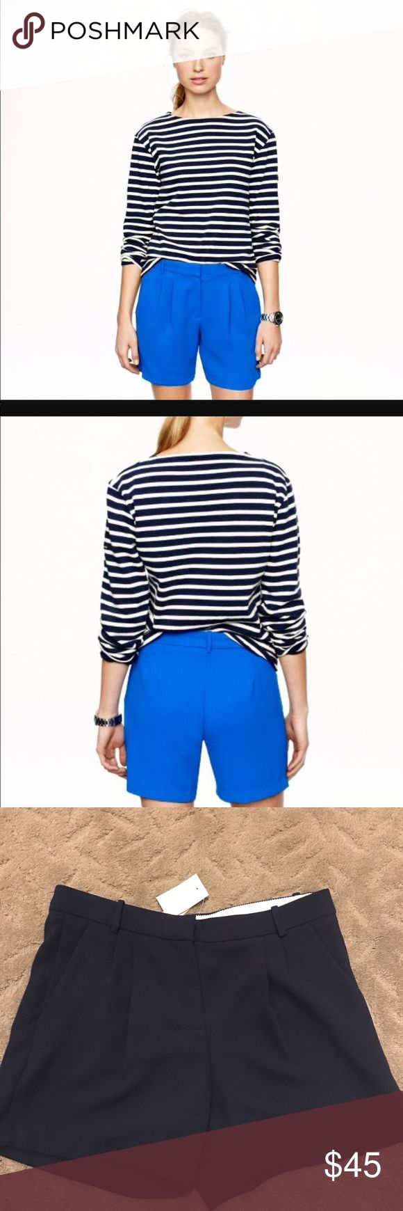 NAVY BLUE JCrew Dress Shorts NWT! Living in Alaska hasn't given me many opportunities to wear shorts. Bummer these are super cute. J. Crew Shorts