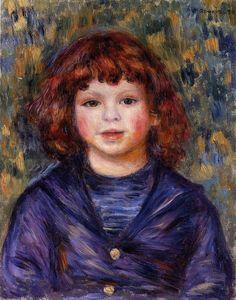 Portrait of Pierre Renoir in a Sailor Suit 1 - (Pierre-Auguste Renoir)