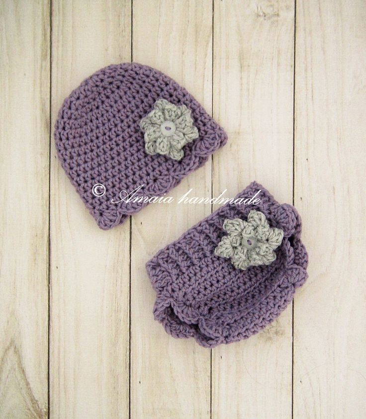Baby girl diaper cover and hat - Crochet baby girl outfit for Newborn to 12 Months, Great for photo prop or as an Baby shower gift! by Amaiahandmade on Etsy