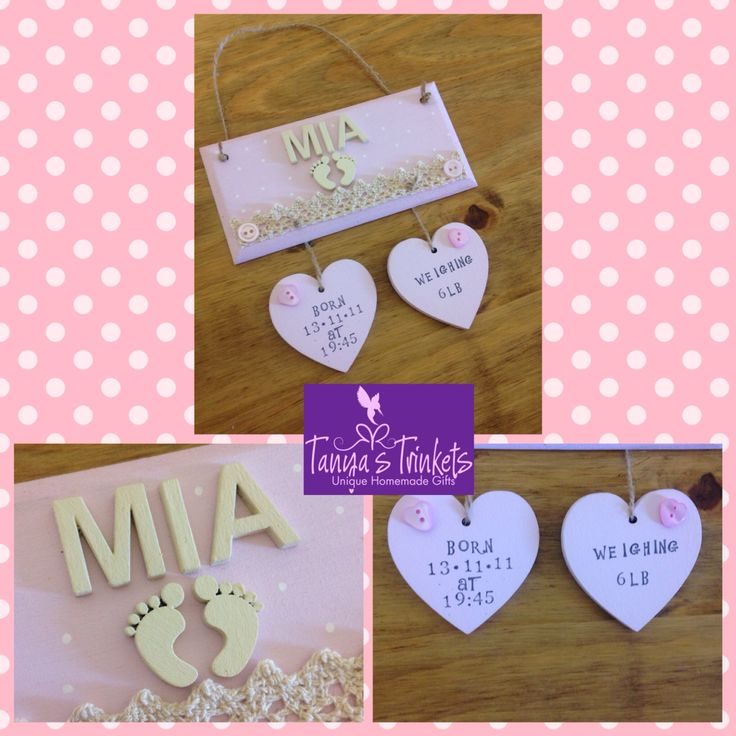 Childrens name trinkets plaques