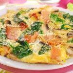 Frittata con avanzi di funghi e spinaci rustica - Ricette in 30 minuti