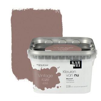 KARWEI Kleuren van Nu muurverf mat vintage roze 2,5l | Muurverf kleur | Muurverf | Verf & verfbenodigdheden | KARWEI