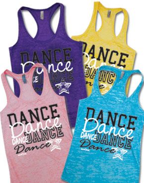 Dance Burnout Racerback Tank...totally want these for Zumba. *ahem* My birthday approaches.