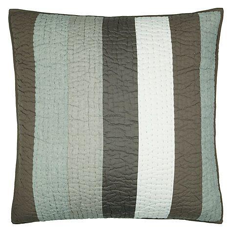 Buy John Lewis Wide Stripe Sham Cushion Online at johnlewis.com