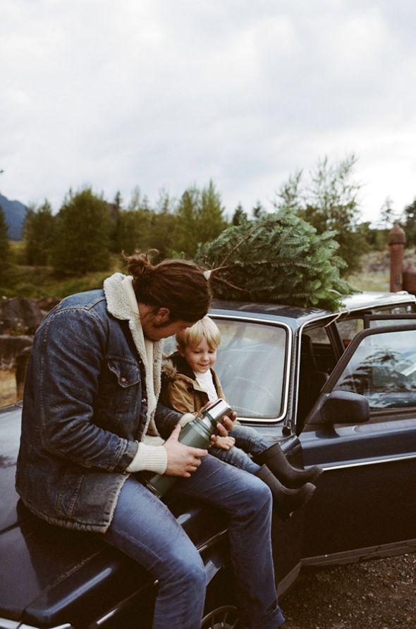 os meninos comprando a ávore de natal :)